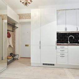 现代风格开放式小型家居厨房白色橱柜装修效果图欣赏