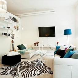 房屋小客厅与卧室隔断装修效果图片