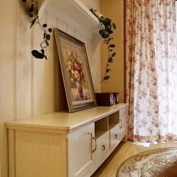 田园风格样板房客厅柜子设计装修效果图