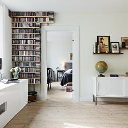 家装简约过道书柜装修效果图
