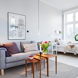 房屋小客厅与卧室软隔断装修效果图