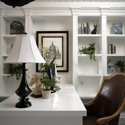 欧式风格别墅最新经典书房书柜电脑桌装修效果图