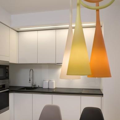 65平米复式小公寓厨房餐厅装修效果图
