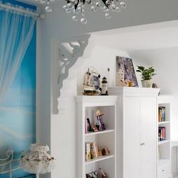 地中海风格复式家卧室书房隔断装修效果图