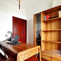 中式书房原木家具装修效果图
