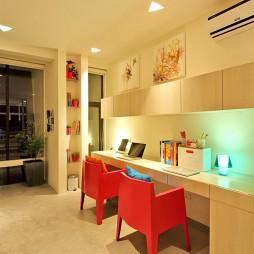 菲律宾联排别墅小书房装饰柜装修效果图