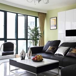 现代客厅飘窗窗帘装修效果图