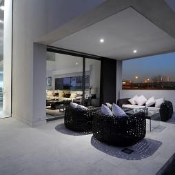 2017现代风格别墅观景特色外阳台藤椅装修效果图片