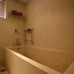 现代风格简单卫生间浴室瓷砖装修效果图片