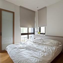 台北內湖蝶舞行馆简约三居室设计卧室带阳台装修效果图