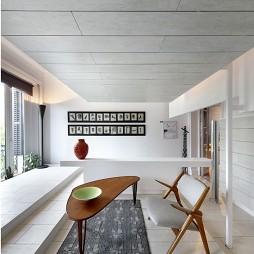 简约清爽复式公寓设计小客厅隔断玄关装修效果图
