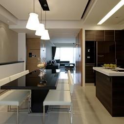 台北惠宇仰森林四居室内设计厨房与餐厅隔断装修效果图