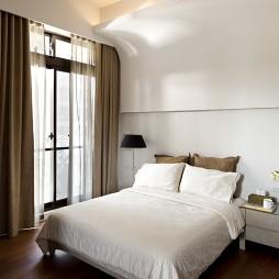 文山行旅室内设计卧室落地窗帘装修效果图