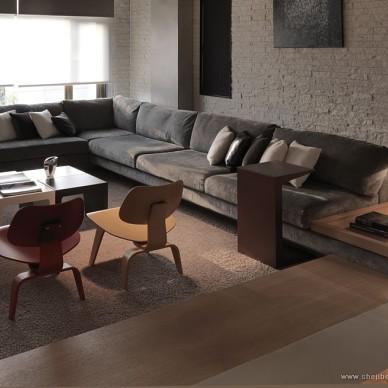 台北某复式房设计客厅楷模家具装修效果图