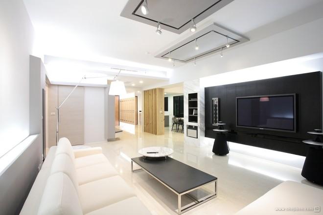 现代风格家居设计台南席悅林宅家装客厅