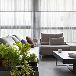 文山行旅室内设计客厅飘窗窗帘装修效果图片