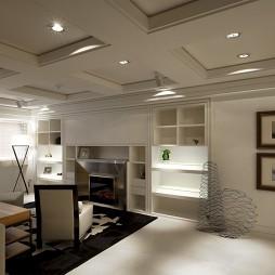 现代风格客厅组合柜效果图
