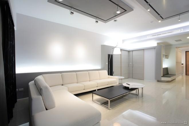 现代风格家居设计台南席悅林宅简约客厅