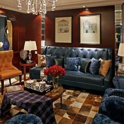 欧式西安鸿基紫韵J2示范单位奢华家装客厅装修效果图片