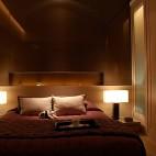 混搭卧室床头台灯装修效果图