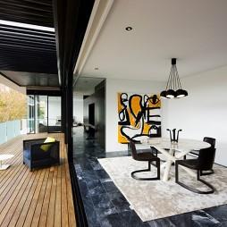 澳大利亚YvesBoutique公寓设计混搭餐厅阳台隔断装修效果图