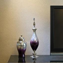 北京华侨城畅想多元新古典客厅电视装饰柜摆设装修效果图