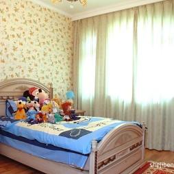2017美式乡村风格儿童房窗帘装修效果图片