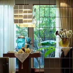 镇江馨海家园独栋室内设计中式餐厅隔断装修效果图