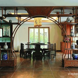 中式家装博古架造型图片