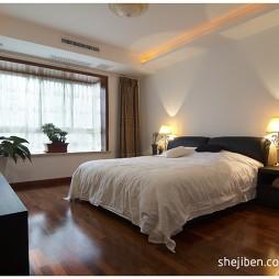 现代简约风格经典家居主卧室窗台装修效果图片