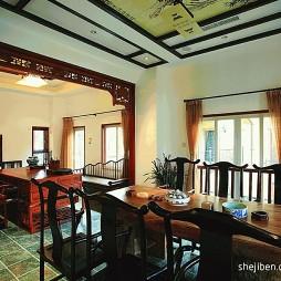 别墅中式古典风格样板房餐厅装修效果图