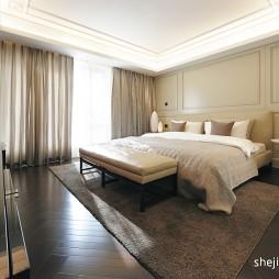 最新现代简约风格精装别墅主人卧室吊顶装修效果图片