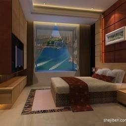 中式样板房卧室