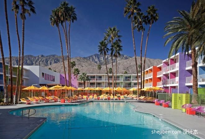 Saguaro酒店设计 暖色调色彩天