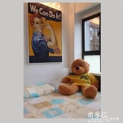 绿意生活现代卧室挂画装修效果图
