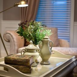 绍兴信达银郡售楼厅及样板房客厅小茶几装修效果图