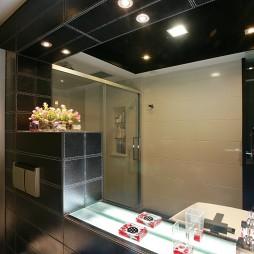 逸雅空间现代卫生间洗手台镜子装修效果图