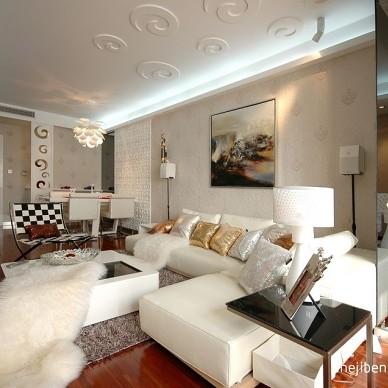 浪漫和艺术的相遇客厅隔断装修效果图