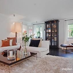 180平米两层自建别墅设计客厅地毯设计装修效果图