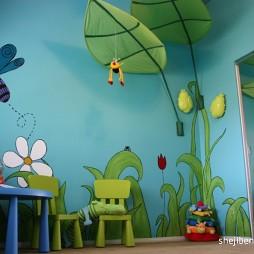 2017现代风格宜家创意儿童房可爱壁纸装修效果图片