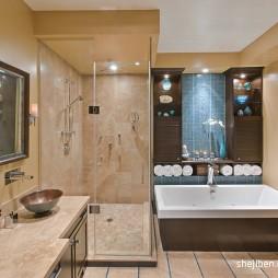 现代风格时尚主卫生间淋浴房装修效果图片