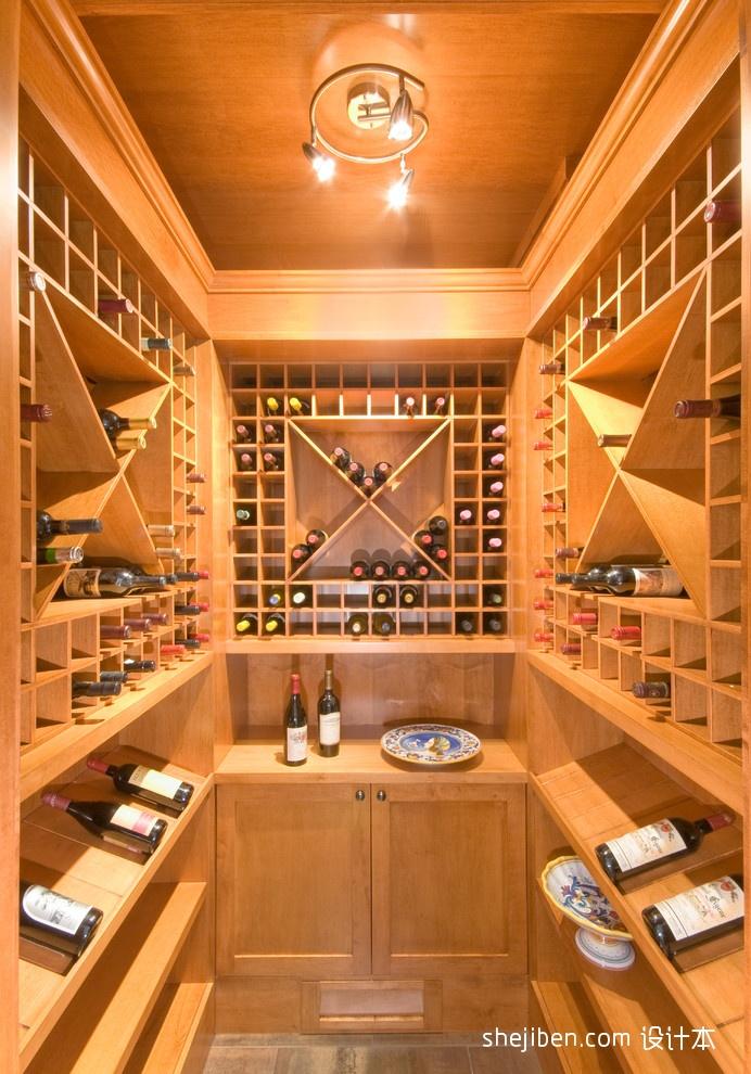 现代简约电视墙墙纸_三居室现代风格私人酒窖设计效果图 – 设计本装修效果图