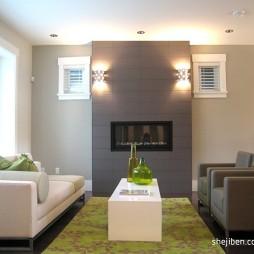 简约现代别墅设计客厅电视背景墙装修效果图