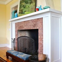 混搭壁炉挂画背景墙装修效果图