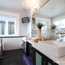 现代简约风格别墅最新卫生间洗手盆装修效果图片