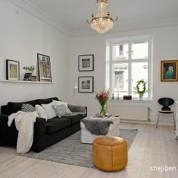现代客厅挂画背景墙装修效果图