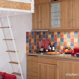 21平米小户型装修设计现代客厅壁柜装修效果图