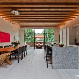 现代开放式厨房餐厅装修效果图