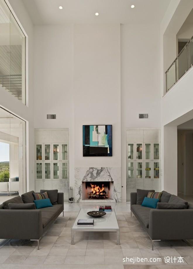 极具现代感的精美简约家居设计现代挑空