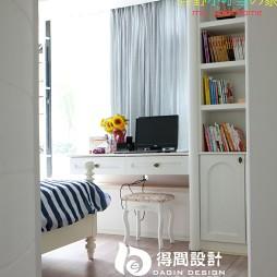 得间设计地中海卧室书房一体化装修效果图